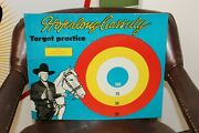 1950s Hopalong Cassidy Double Sided Western Target Practice Tin Litho Game