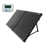 Portable Briefcase Offgrid Solar Panel Kit 100 Watt 10 Amp Lcd Charge Controller
