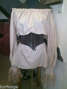 Pirate/gypsy/steam Punk/50and039s Blouse And Belt All Sizes/colours