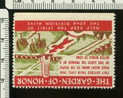 Poster Stamp, Us Garden Of Honor , 32 Div.    Ps304