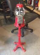 Vintage Carousel Bubble Gum Stand Metal Bank Local Pickup Only Read