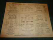 1966 Pontiac Tempest 326ho And 230 Engine W/ Transistor Ignition Sun Tune-up Chart