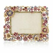 Jay Strongwater Ophelia Floral Cluster Frame - Bnib