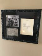 Rod Serling Autograph- Tls- Vintage Typed Letter Signed-twilight Zone-rare