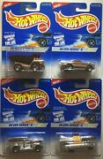 1996 Hot Wheels Silver Series Ii Four Car Set And03957 Chevy And03940and039s Woodie Dump Truck