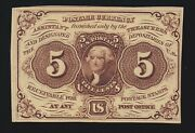 Us 5c Fractional Currency 1st Issue Imperf W/o Monogram Fr 1231 Ch Cu 004