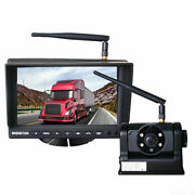 Wireless 7 Monitor Magnetic Base Camera Fit For Tractor Caravan Truck 12/24v