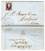 1 On Lasalle Illinois Il 1851 Folded Letter - Only Recorded 1847 Franklin Use