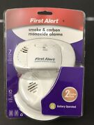 First Alert 2 Pack Smoke Alarm And Carbon Monoxide Detector Combo Pack Brand New