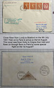 1961 Lundy Channel Island Airmail Cover To Paris France Via Koln Germany