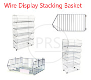 New Stacking Wire Basket Divider Display Shop Warehouse Retail Shop
