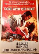 Gone With The Wind Clark Gable 1967 Original Vintage Poster
