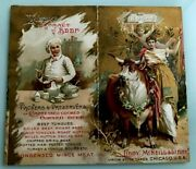 Scarce 1893-94 Libby Mcneill Extract Beef Calendar Graphic Victorian Trade Card