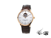 Frederique Constant Slimline Heart Beat Automatic Watch Fc312 Rose Gold White