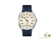 Meistersinger Metris Ivory Automatic Watch 38mm Leather Strap Me903-sv04