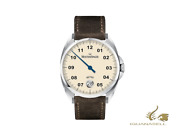 Meistersinger Metris Ivory Automatic Watch 38mm Leather Strap Me903-sv02