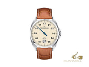 Meistersinger Metris Ivory Automatic Watch 38mm Leather Strap Me903-sg03
