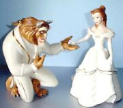 Lenox Disney Beauty And The Beast 2 Figurines My Hand My Heart Is Yours Belle New
