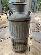 Antique Milk Can - 10 Gal - Vacuum Can 7649 - Skelly Oil Co Oklahoma 30s