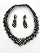 Vintage St. John Jewelry Set Necklace And Earring Art Deco Stunning