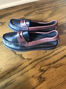 Decoys By Auditions Leather Black Brown Penny Lofers 7.5 D Wide