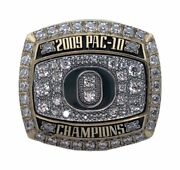 2009 Oregon Ducks Pac-10 Champions Ncaa Football Championship Playerand039s Ring