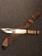 Vintage Rare Solingen 6320 Scout Fixed Bowie Hunting Knife 8 Stag Look
