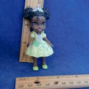 Disney Princess Poseable Tiana Sparkle Mini Toddler Doll 3 Guc And The Frog