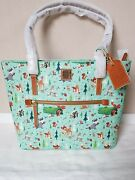 New Genuine Dooney And Bourke Disney Bambi And Friends Shopper Tote Bag Large A