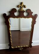 Westing Evans And Egmore Antique Federal Style Mahogany Panel Back Mirror