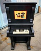 Disneyand039s Mickey Mouse Serenades Minnie Sericel Music To My Ears Framed Piano