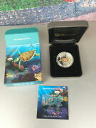 Proof Coin Reef 2010 Hawk Turtle 50 Cent Proof Coloured 1/2 Oz Ounce Sea Life Ii