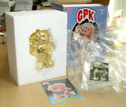 And03920 Topps Garbage Pail Kids Gpk Trashy Treasures Corroded Carl Figurine Gold 1/1