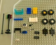 Lego Lot Vehicle Car Parts Chair Seat Steering Wheel Windshield Tires Axles Lot