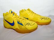 Nike Kd Iii Christmas Autographed Kevin Durant Shoes 417279-700 Yellow/blue