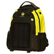 Solar Backpack Charging 12k Mah Battery 5w Size Solar Panel Charger Yellow Black