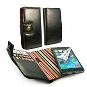 Alston Craig Personalised Leather Wallet Rfid Blocking Case For Iphone 6s-black