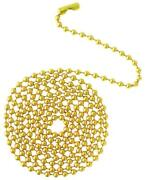 By The Foot Polished Brass Beaded 6 Ball Pull Chain Extension For Ceiling Fan