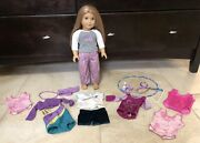 Mckenna American Girl Doll Of The Year 2012 7 Outfits Pjs Leotards Shirt Gymnast