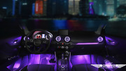 Ambient Light And Turbo Led Air Vent With 10 Colors For Audi Q2 2019+