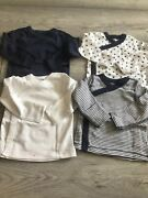 Moon And Back Baby Boy Pack Of 4 Long Sleeve Tshirts Easy Front Fastening 3-6 Mt