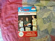 1969-70 Washington Caps Media Guide Yearbook Rick Barry Larry Brown 1970 Aba Ad