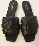 Saint Laurent Tribute Mules Sandals In Smooth Leather