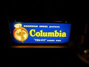 Antique Jewelry Store Display Lightup Sign Columbia Diamond Rings Motorized Ad