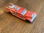 Nice Vintage Auburn Red Rubber Fire Truck 2 500 Back And Front Fender Plate
