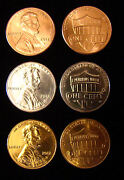 2012 D Unc Silver 24k Gold Plated - Lincoln Penny Union Shield One Cent Lot Of 3