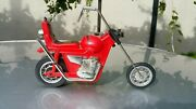 Vintage Motorcycle Mustang Chopper 80's Toy Hollow Plastic Large Toy Kj-1982