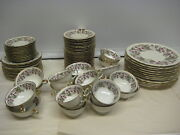 Royal York China Red Raspberry Set Of 80 Pieces 1950and039s Rare 4 - Germany