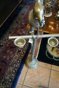 Vintage Decorative Silver Bird Floor Stand For Cigarette Ashes