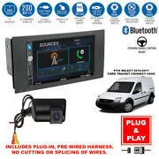 Plug-in Touchscreen Usb Car Stereo Radio+ford Transit Connect Van Backup Camera